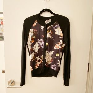 ERDEM Dorothy Cardigan Black Button Down Sweater